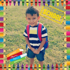 Jaydens 1st day of school! ♡